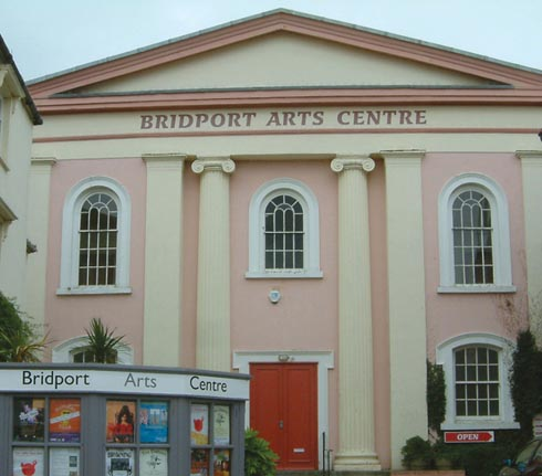The Arts Centre has an imposing position in the centre of the town