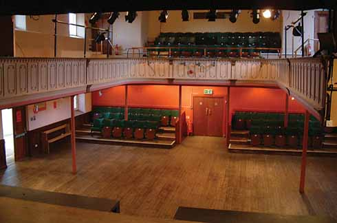 The theatre's origins as a Methodist chapel are evident