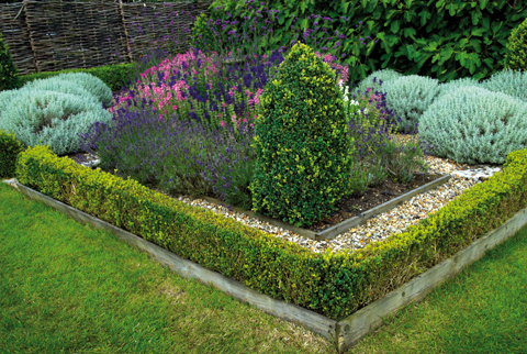 One of two charming knot gardens