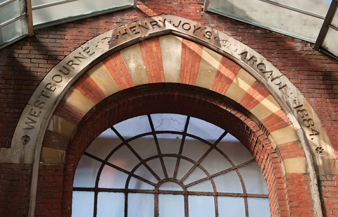 Henry Joy was proud enough of his project to have his name carved on the inside of the entrance arch