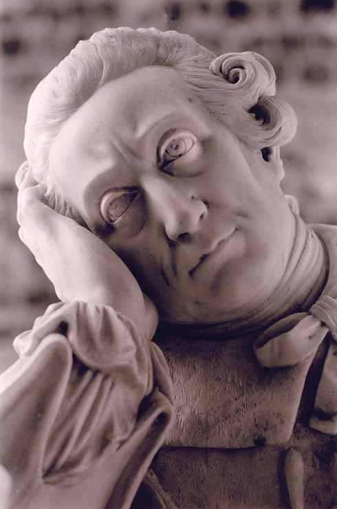 The effigy of Joseph Damer in Milton Abbey