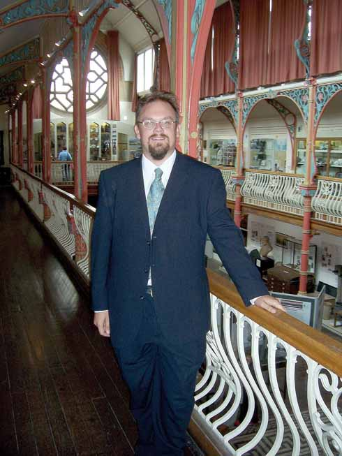 Jon Murden in the gallery of the Dorset County Museum's Victorian Hall
