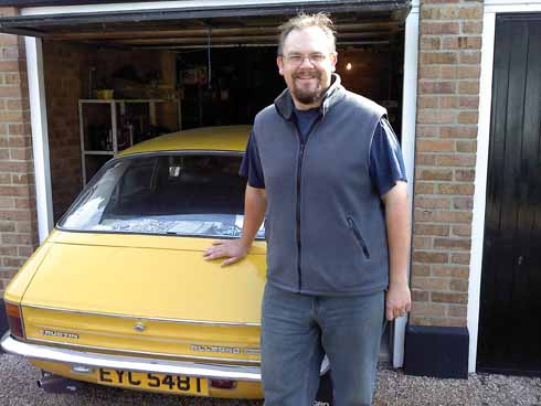 Classic cars are Jon's hobby; he is only the third owner of this 1978 Austin Allegro