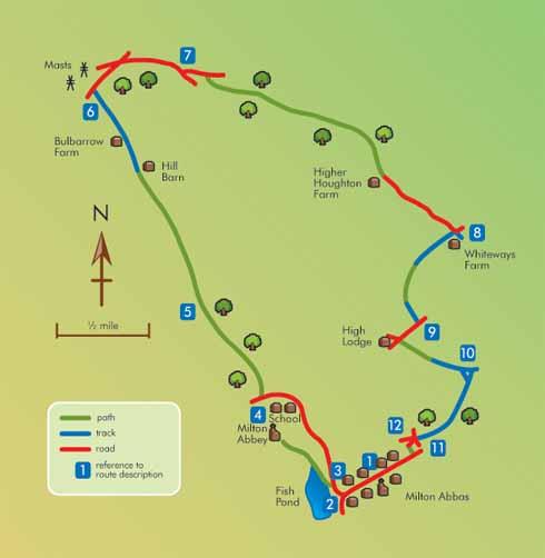 Map of walk