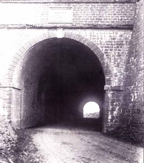 A rare early picture of the south entrance to the tunnel