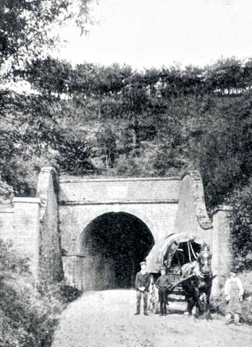 A photograph of the south entrance, taken in about 1900
