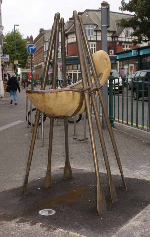 One of the sculptures in Sea Road that forms Boscombe's first arts trail