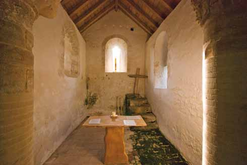 Inside Lyscombe Chapel
