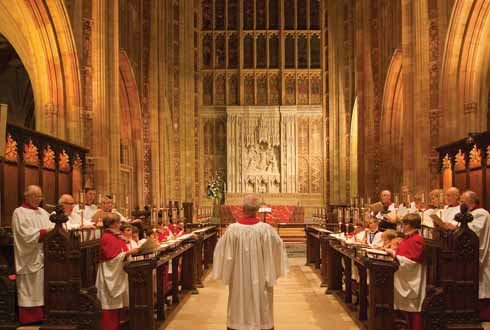 The Abbey Choir, Boy Choristers to the fore, Gentlemen to the rear