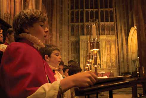 The Sherborne Abbey boy choristers are drawn not from a specialist music school, but from schools around the area