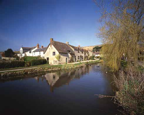 Sutton Poyntz with its mill pond was Hardy's inspiration for Overcombe, the village around which the story centres. John Loveday's father owns the mill and lets part of the building to Widow Garland and her daughter Anne.