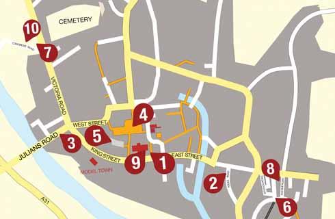 Wimborne Town Map 2005