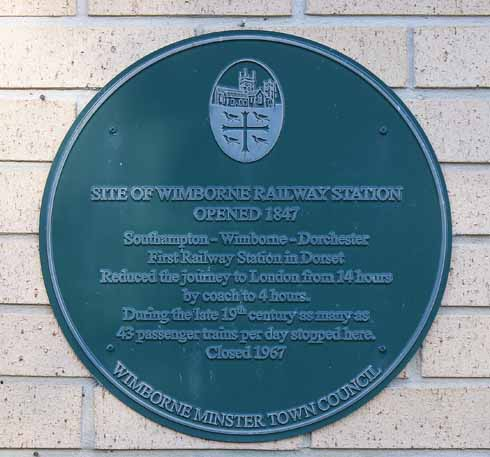 A plaque celebrating what was once the busiest station in Dorset