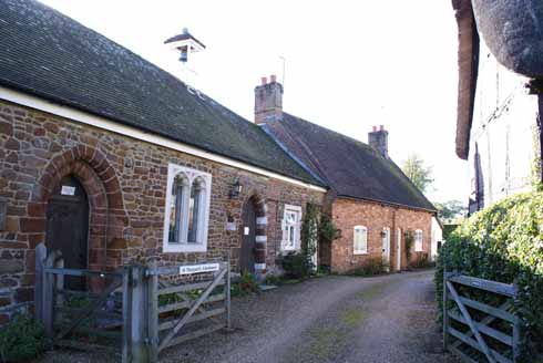 Fourteen almshouses and a chapel where once was a leper hospital
