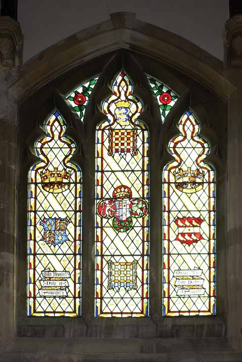 The Beaufort/Beaumont window in Wimborne Minster