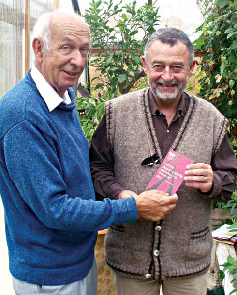 Philip and Clive Farrell, the developer and driving force behind the Butterfly World Project