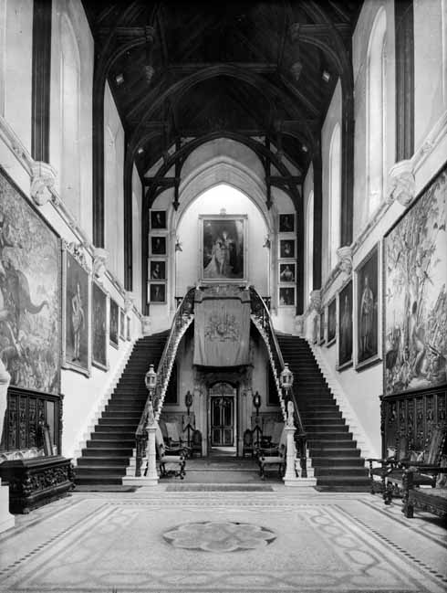 The Great Hall as it was in 1942 before the removal of the double staircase