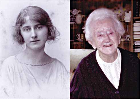 Norrie as 'Tess' in  1923 and, more recently, at home