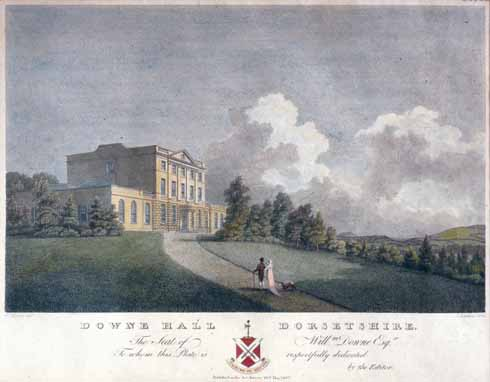This 1807 illustration of Downe Hall shows the building in splendid harmony with its landscaped grounds