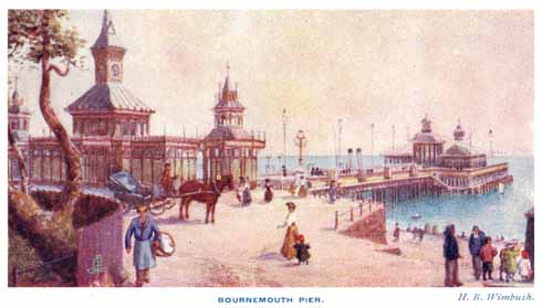 Entitled 'Beside the idle summer sea', this Victorian postcard shows the idealised view of pier usage