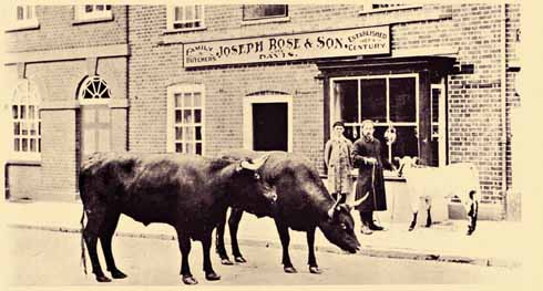 Before Christmas, butchers would parade their wares to encourage buyers to think of their festive joints