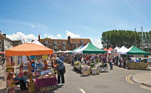 The Saturday market at Wareham Quay