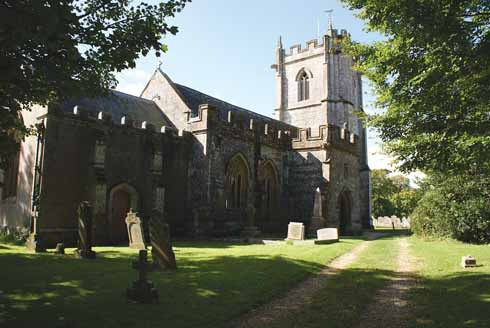 The church in Sydling St Nicholas, the oldest part of which dates from the 15th century