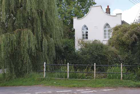 The old Congregational chapel in Sydling is now a private home. The building dates from 1834.