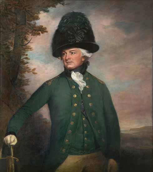 Thomas Beach (1738-1806) George Damer, Viscount Milton (1746-1808) as Colonel of the Dorset Volunteer Rangers  oil on canvas, 1794
