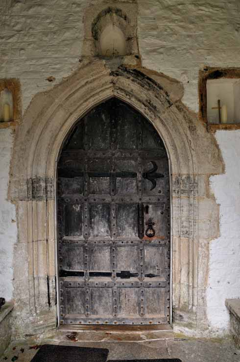 According to church records, the wooden door in the South Porch dates from about 1600, but the hinges appear to be Norman. Inside this door is an ancient lock which, when it was taken off for greasing, was found to contain two inches of tallow.