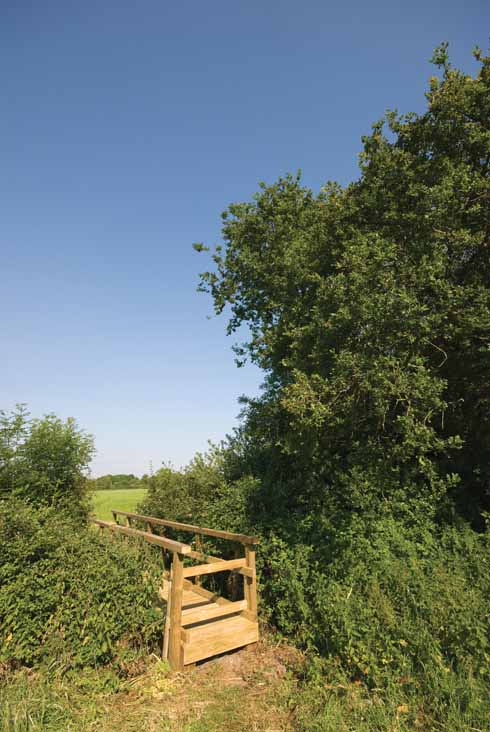 There's a well-built stile/bridge to take you into the second section of the walk
