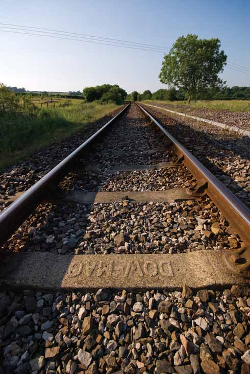 The single-track railway line is a common sight in North Dorset