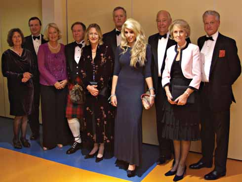 The President and his guests prior to the Society of Dorset Men's 2010 Cpinty Dinner. Flanking Sir Anthony are his daughter Emma, and Lady Georgina Jolliffe.