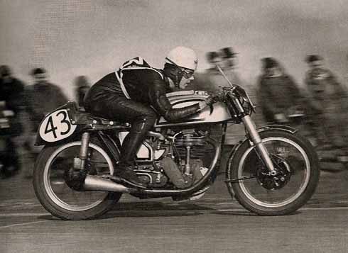 Geoff Duke, soon to become a legend in the motorcycling world, made light of the opposition at the 1950 Blackmore Vale meeting when he rode the Norton 'featherbed frame' for the first time