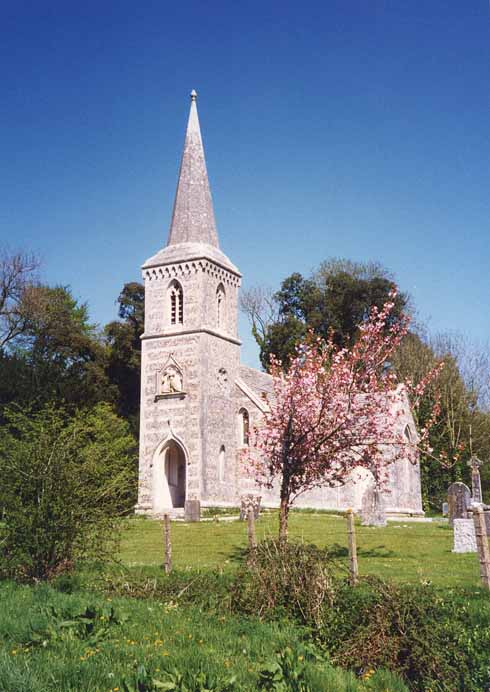 The church of St Nicholas in Winterborne Clenston is typical of 19th-century estate churches, having no aisles and a short chancel