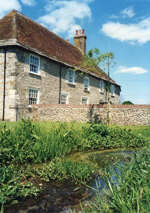 The Winterborne at Quarleston farmhouse: a 15th-century building with alterations in pretty much every century since then