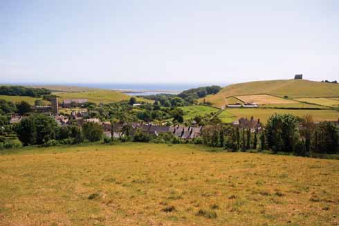 Abbotsbury, with the Fleet and sea beyond