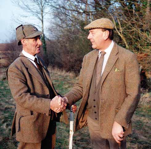 Don Ford with the 10th Earl of Shaftesbury in 1992, the year in which Don retired