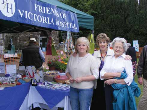 A familiar sight in Wimborne, the FVH stand is shown here at the annual folk festival