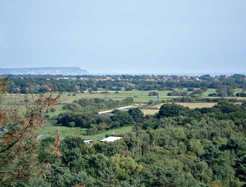 View from St. Catherine's Hill looking towards the Isle of Wight