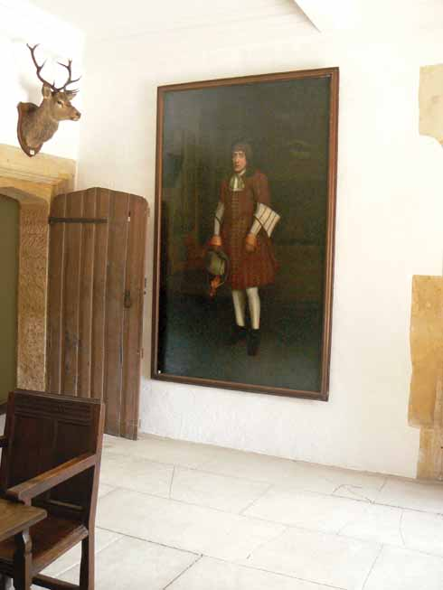 The original portrait in Sherborne Castle's hall