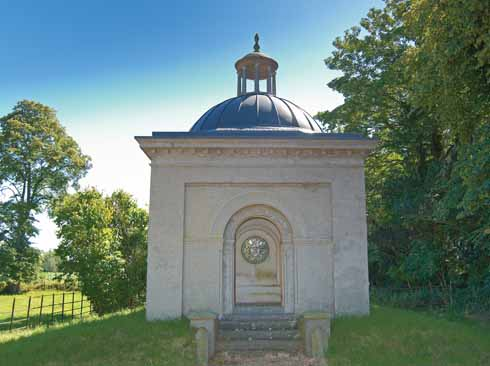 The refurbished mausoleum