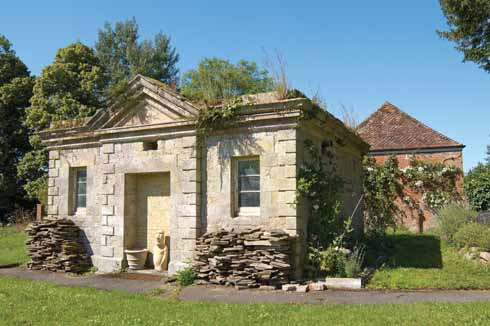 The historic crematorium is now a garden storage area