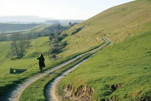 Skirting Bincombe Down escarpment