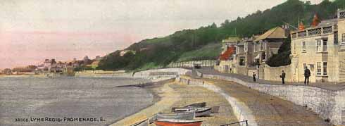 A colourised view of the Lyme 'Promenade' taken around 1900-1903