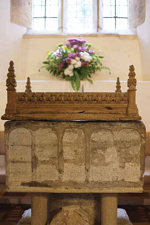 the St Martin's church font, which dates all the way back to 1125