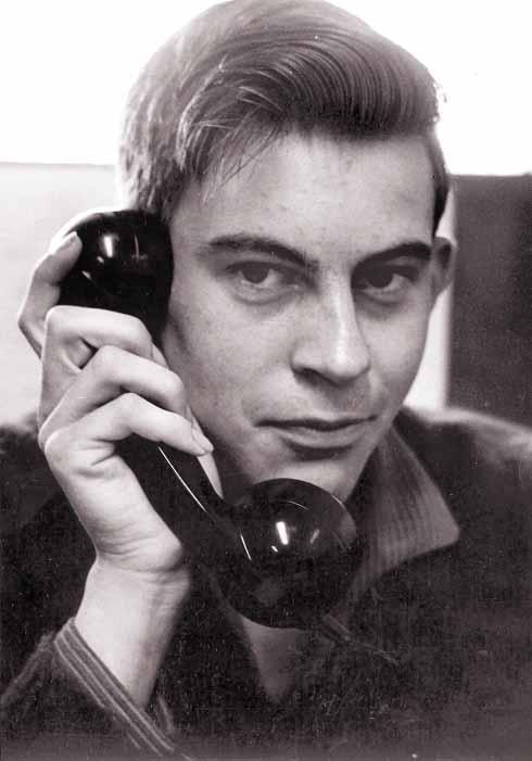Fresh-faced reporter Rodney Legg, before moving back to Dorset from Essex