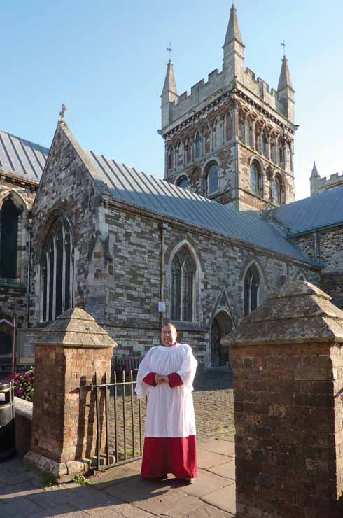 Chris Tapley leads the choral liturgy at Wimborne Minster, but loves singing in other venues across Dorset with the Orlando Singers