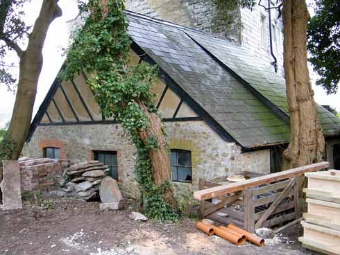 The stable, where there will be a mini museum/information centre about the house