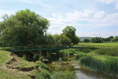 The Wilson-Haines footbridge over the Stour was named for the former footpath officers whose parishes of Shillingstone and Child Okeford the footbridge connects
